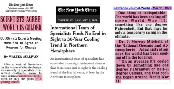 Alla trodde på global avkylning