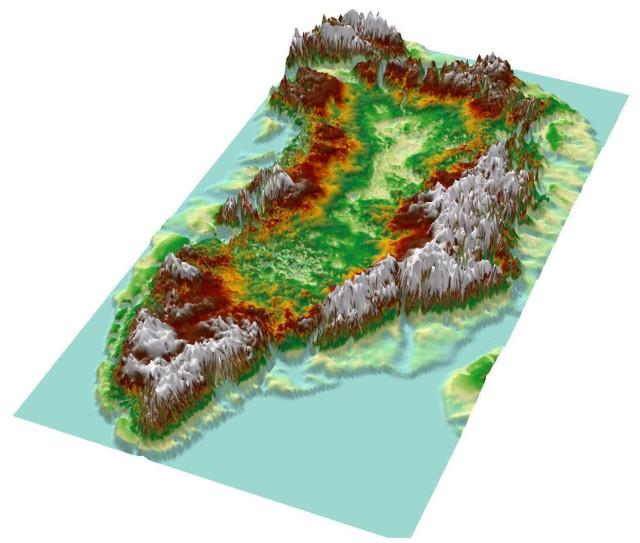 Grönlands topografi