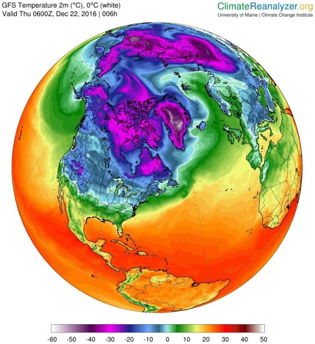 Kall vinter i arktis ny