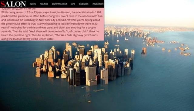 Manhattan under vatten James hansen