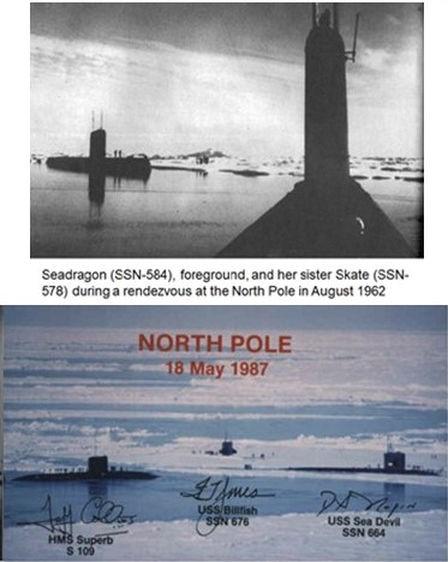 Nordpolen 1962 och 1987