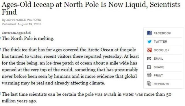Nordpolen isfri