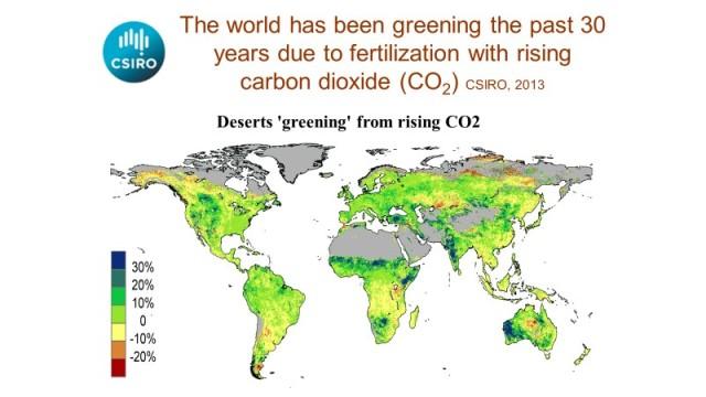 Världen grönskar