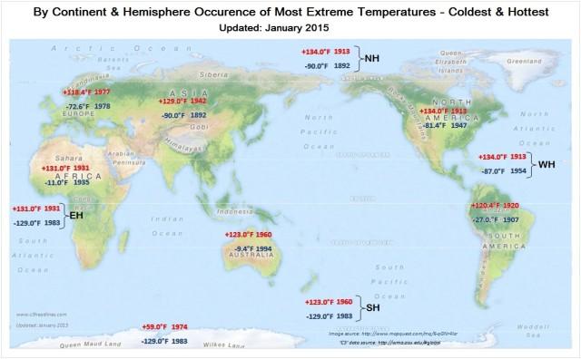 Värmerekord, karta ny